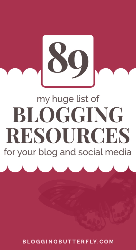 89 blogging tools and resources
