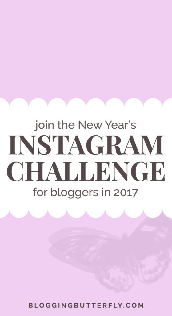New Year's Instagram Challenge for Bloggers