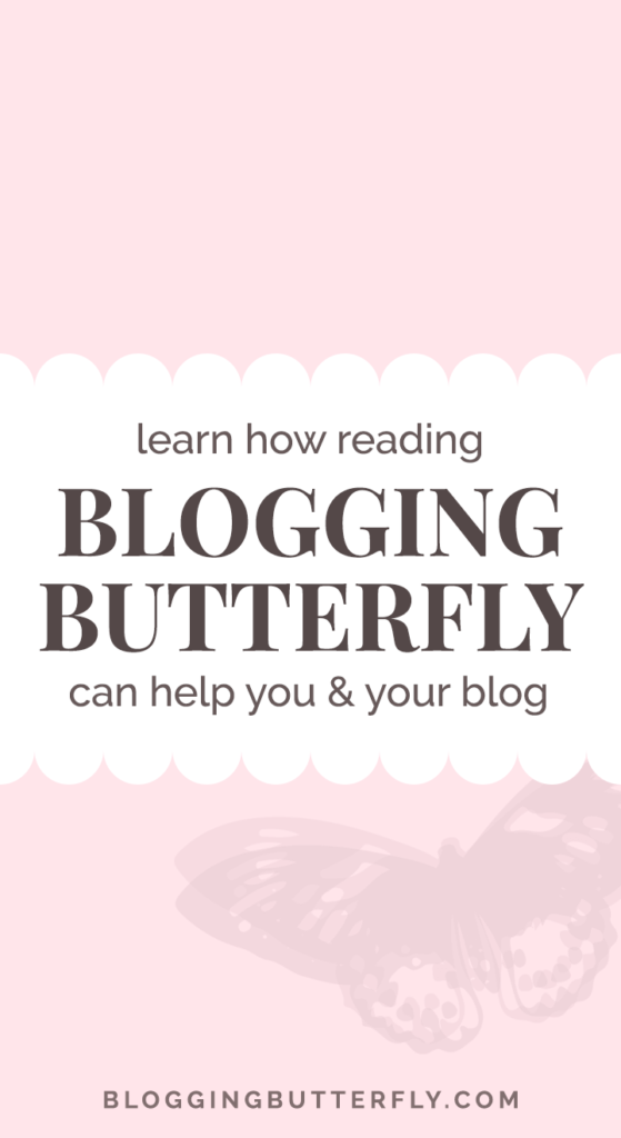 Find out how you can find blogging advice at Blogging Butterfly