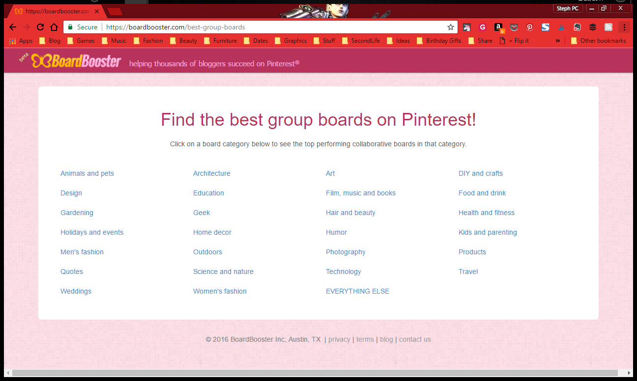 Find Pinterest group boards with BoardBooster