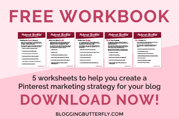 Free blog traffic from Pinterest workbook download