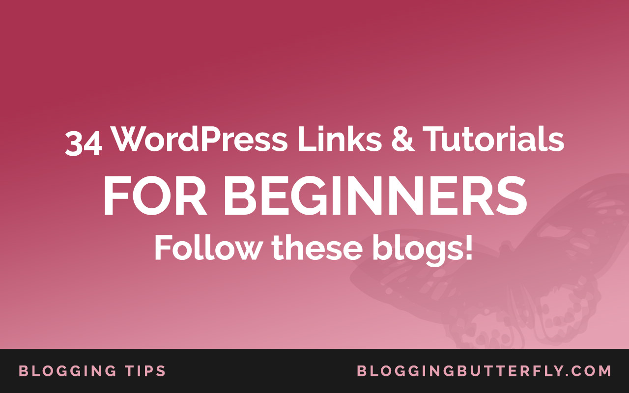 34 links for WordPress beginners