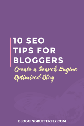 10 Seo Tips for Bloggers | Make your blog rank higher in searches with these 10 tips and tricks | #seo #BloggingTips #wordpress